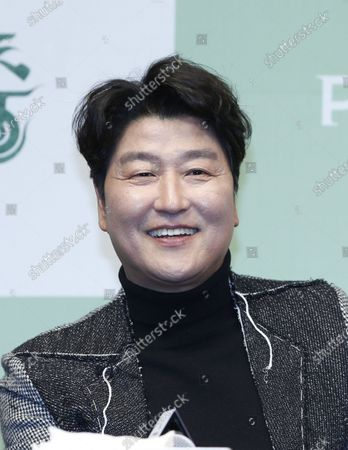 Song Kang-ho speaks during a press conference for the movie of Parasite in Seoul, South Korea, 19 February 2020. Parasite is the first foreign-language movie to win an Academy Award for Best Picture.