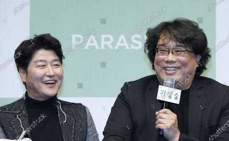 Editorial photo of Parasite press conference in Seoul, Korea - 19 Feb 2020