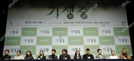 Editorial picture of Parasite press conference in Seoul, Korea - 19 Feb 2020