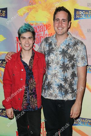 Stock Image of Sam Tsui and Casey Breves