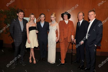 Stock Picture of Tim Bevan, Producer, Mia Goth, Johnny Flynn, Anya Taylor-Joy, Autumn de Wilde, Director, Bill Nighy, Graham Broadbent, Producer,