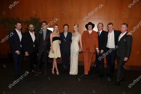Jason Cassidy, President of Marketing, Focus Features, Peter Kujawski, Chairman of Focus Features, Tim Bevan, Producer, Mia Goth, Johnny Flynn, Anya Taylor-Joy, Autumn de Wilde, Director, Bill Nighy, Graham Broadbent, Producer, Robert Walak, President of Focus Features,