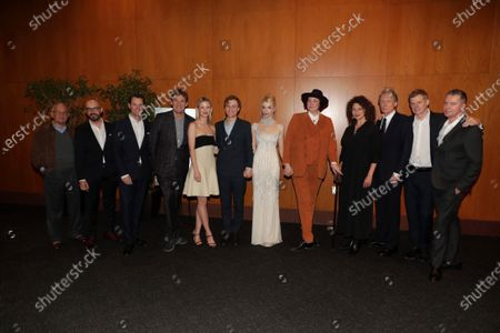 Ron Meyer, Vice Chairman of NBCUniversal, Jason Cassidy, President of Marketing, Focus Features, Peter Kujawski, Chairman of Focus Features, Tim Bevan, Producer, Mia Goth, Johnny Flynn, Anya Taylor-Joy, Autumn de Wilde, Director, Bill Nighy, Graham Broadbent, Producer, Robert Walak, President of Focus Features,