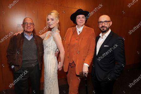 Ron Meyer, Vice Chairman of NBCUniversal, Anya Taylor-Joy, Autumn de Wilde, Director, Peter Kujawski, Chairman of Focus Features,