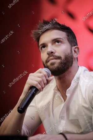 Pablo Alboran speaks at a press conference in San Jose, Costa Rica, 18 February 2020. Alboran said that Latin America is a source of inspiration and a key to his artistic career.