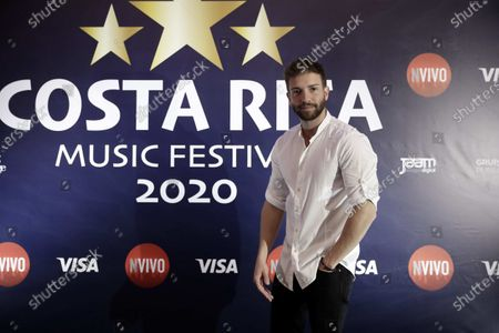Pablo Alboran poses prior to a press conference in San Jose, Costa Rica, 18 February 2020. Alboran said that Latin America is a source of inspiration and a key to his artistic career.