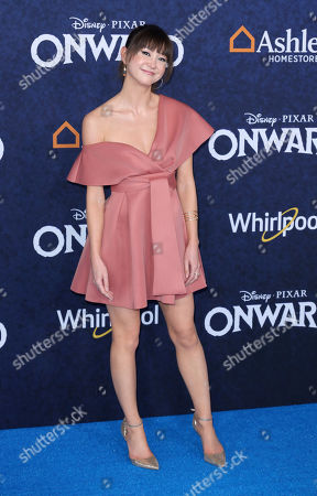 "Kimiko Glenn arrives at the World Premiere of ""Onward"" at El Capitan Theatre, in Los Angeles"