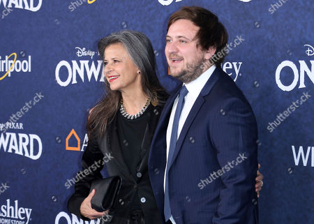 """Tracey Ullman, Johnny McKeown. Tracey Ullman, left, and Johnny McKeown arrive at the World Premiere of """"Onward"""" at El Capitan Theatre, in Los Angeles"""