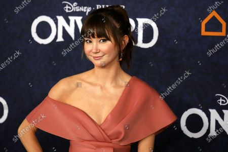 Kimiko Glenn arrives at the premiere of the Disney Pixar movie Onward at El Capitan Theatre in Los Angeles, California, USA, 18 February 2020.