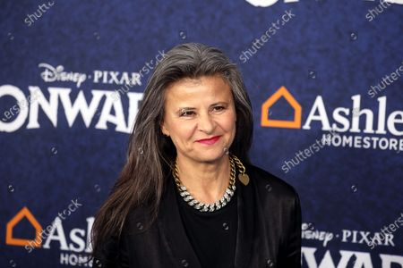 Stock Picture of Tracey Ullman arrives at the premiere of the Disney Pixar movie Onward at El Capitan Theatre in Los Angeles, California, USA, 18 February 2020.