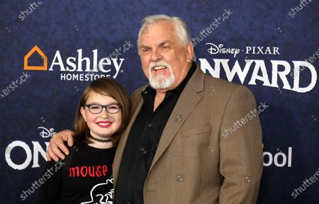 Stock Picture of John Ratzenberger (R) arrives at the premiere of theDisney Pixar movie Onwardat El Capitan Theatre in Los Angeles, California, USA,18 February 2020.