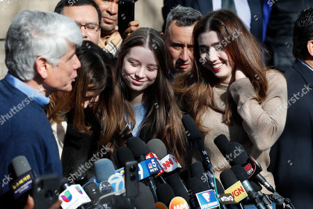 Rod Blagojevich, Amy Blagojevich, Annie Blagojevich. Former Illinois Gov. Rod Blagojevich's daughters Annie, center, and Amy smile during a news conference outside their home, in Chicago. On Tuesday, President Donald Trump commuted Blagojevich's 14-year prison sentence for political corruption