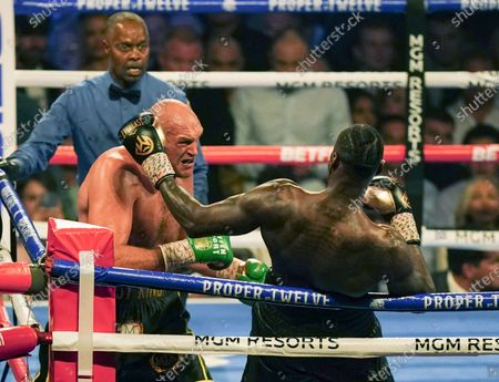 Editorial picture of Deontay Wilder v Tyson Fury II, WBC heavyweight title, Boxing rematch, MGM Grand, Las Vegas, USA - 22 Feb 2020