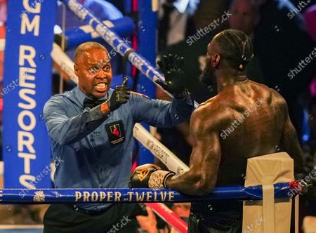 Stock Image of Tyson Fury   beats  Deontay Wilder by TKO in 7th Round
