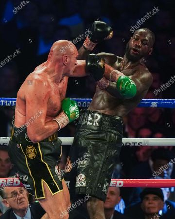 Stock Photo of Tyson Fury   beats  Deontay Wilder by TKO in 7th Round