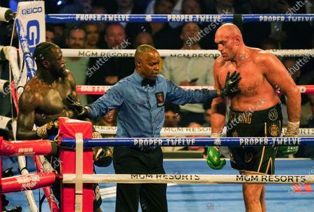 Editorial image of Deontay Wilder v Tyson Fury II, WBC heavyweight title, Boxing rematch, MGM Grand, Las Vegas, USA - 22 Feb 2020