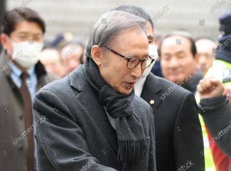 Former President Lee Myung-bak arrives at the Seoul High Court in Seoul, South Korea, 19 February 2020, to attend his trial. Later in the day, he was sentenced to 17 years in prison for bribery and embezzlement, fined 13 billion won (10.9 million US dollar). Lee, who was freed on bail from a detention center on 06 March, was detained after the verdict.