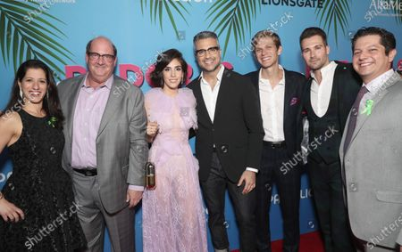 AltaMed's Dr Shapiro with Brian Baumgartner, Sandra Echeverria, Jaime Camil, Kevin Holt and James Maslow attend