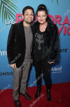 Stock Picture of Izzy Diaz and Pauley Perrette attend