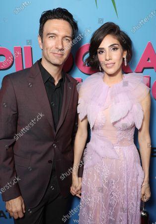 Stock Picture of Leonardo de Lozanne and Sandra Echeverria attend
