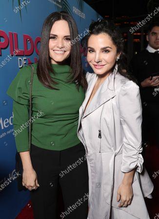 Stock Image of Lucia Ruiz and Martha Higareda attend