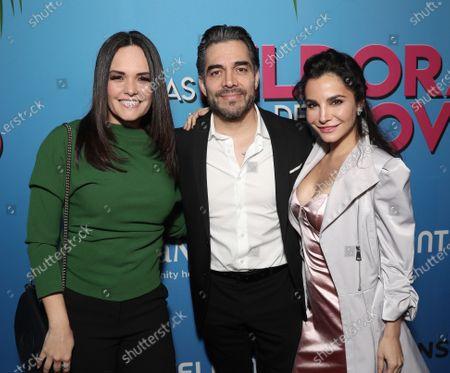 Lucia Ruiz, Omar Chaparro and Martha Higareda attend