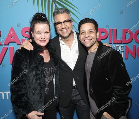 Pauley Perrette, Jaime Camil and Izzy Diaz attend