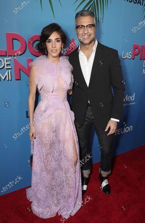Sandra Echeverria and Jaime Camil attend
