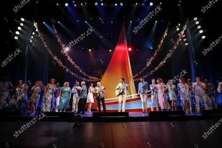 Editorial picture of Jimmy Buffett 'Escape to Margaritaville' play opening night, Curtain Call, Dolby Theatre, Los Angeles, USA - 18 Feb 2020
