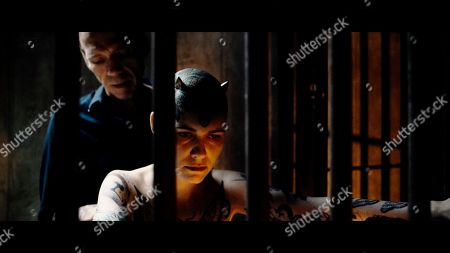 Stock Image of Richard Brake as Bob/Tattooist and Natalia Kostrzewa as Katia