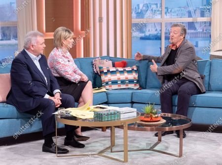 Eamonn Holmes and Ruth Langsford with Stephen Fry
