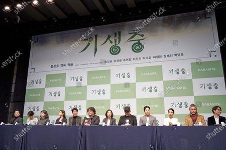 Editorial photo of 'Parasite' film press conference, Seoul, South Korea - 19 Feb 2020
