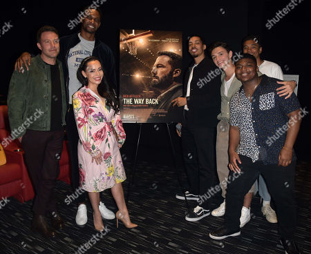 Stock Picture of Ben Affleck, Chris Bosh, Adrienne Williams, Melvin Gregg, Will Ropp, guest, (back row) Charles Lott Jr.