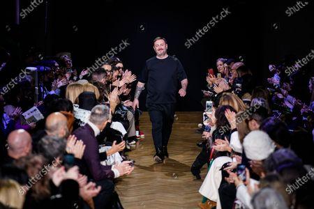 Stock Photo of Daniele Calcaterra on the catwalk