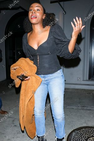 Editorial image of Tika Sumpter out and about, West Hollywood, Los Angeles, USA - 18 Feb 2020