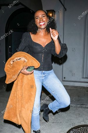 Editorial photo of Tika Sumpter out and about, West Hollywood, Los Angeles, USA - 18 Feb 2020
