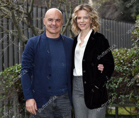 Luca Zingaretti and Sonia Bergamasco