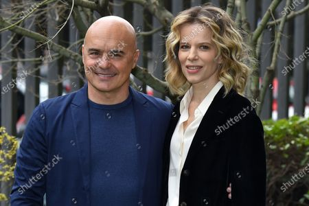 Stock Picture of Luca Zingaretti, Sonia Bergamasco