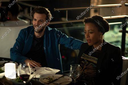 Guy Burnet as Tom Hatfield and Nina Toussaint White as Kate Hatfield