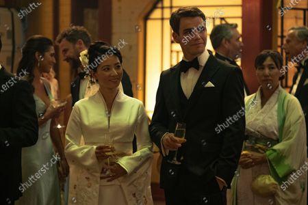 Jing Lusi as Miyu Hatfield and Jeremy Neumark Jones as Ben Hatfield