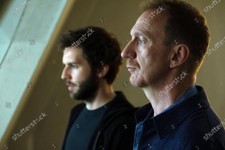 Stock Photo of Guy Burnet as Tom Hatfield and David Thewlis as Lawrence Hatfield