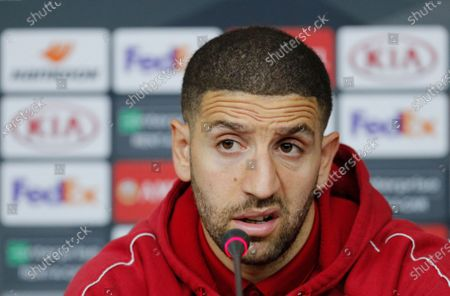 Benfica player Adel Taarabt attends a press conference in Kharkiv, Ukraine, 19 February 2020. Benfica will face Shakhtar Donetsk in their UEFA Europa League round of 32, first leg, soccer match in Kharkiv, Ukraine on 20 February 2020.