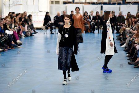 Editorial image of Arthur Arbesser show, Runway, Fall Winter 2020, Milan Fashion Week, Italy - 19 Feb 2020