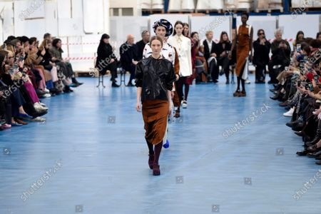 Stock Photo of Models on the catwalk