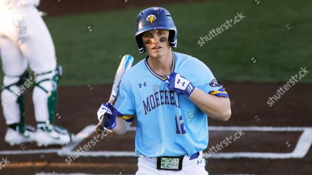 Morehead State's Stephen Hill bats against Michigan State in an NCAA college baseball game at Shipyard Park, in Mt. Pleasant, S.C. Michigan State defeated Morehead State 15-3