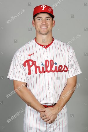 This is a 2020 photo of Luke Williams of the Philadelphia Phillies baseball team. This image reflects the Phillies active roster as of, when this image was taken