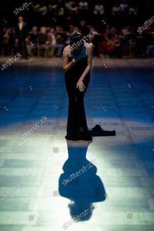 Russian soprano Aida Garifullina performs in the ballroom during the dress rehearsal for the traditional 64th Vienna Opera Ball at the Wiener Staatsoper (Vienna State Opera) in Vienna, Austria, 19 February 2020. The Vienna Opera Ball takes place on 20 February.