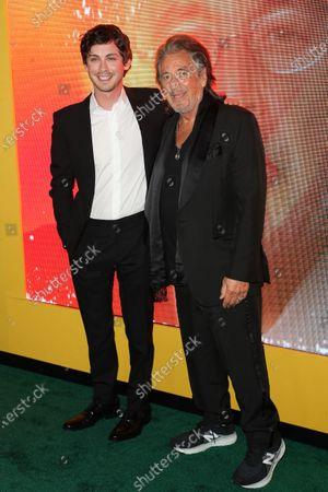 Logan Lerman and Al Pacino