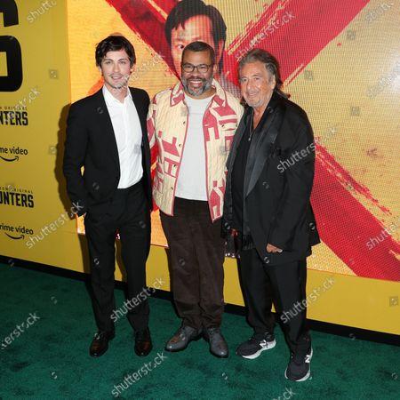 Stock Photo of Logan Lerman, Jordan Peele and Al Pacino