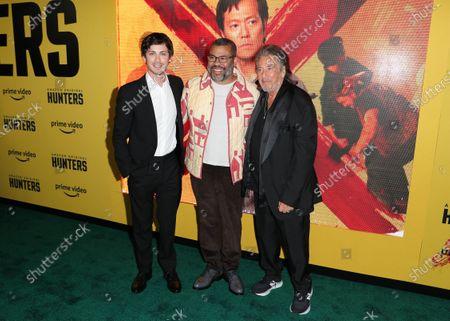 Logan Lerman, Jordan Peele and Al Pacino